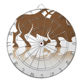 Bison Buffalo vector Dartboard With Darts