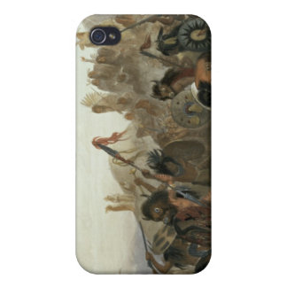 Bison-Dance of the Mandan Indians in front of thei iPhone 4 Cases