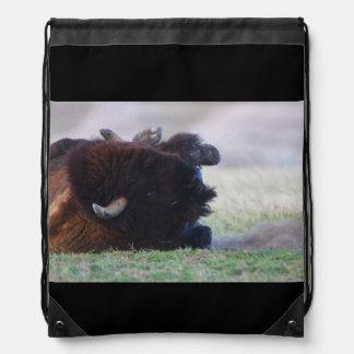 bison drawstring bag