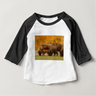 Bison Family Nation Baby T-Shirt
