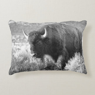 Bison Grazing Decorative Pillow