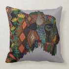 bison heather throw pillow