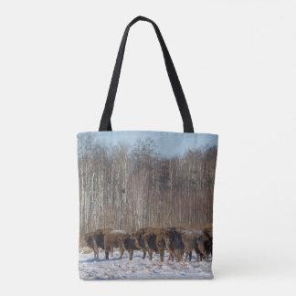 Bison Herd Tote Bag
