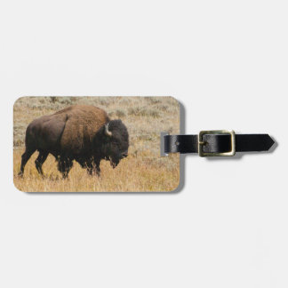 Bison In Open Field Photograph Luggage Tag