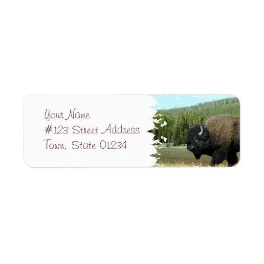 Bison  Mailing Labels