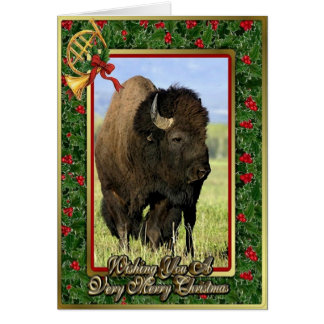 Bison North American Animal Blank Christmas Card