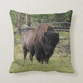 Bison of Yellowstone Photo Throw Pillow