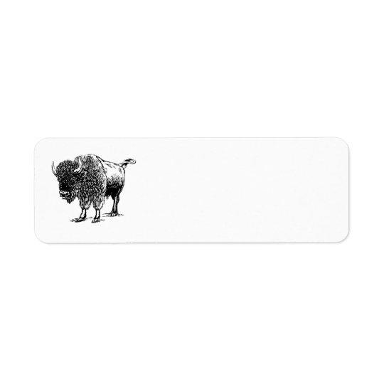 Bison Return Address Label
