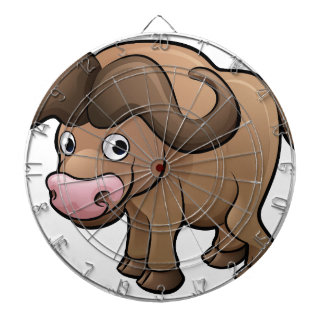 Bison Safari Animals Cartoon Character Dartboard