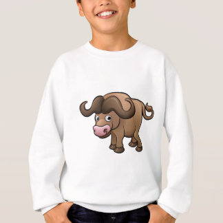 Bison Safari Animals Cartoon Character Sweatshirt