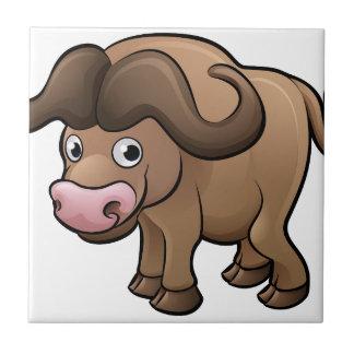 Bison Safari Animals Cartoon Character Tile