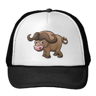 Bison Safari Animals Cartoon Character Trucker Hat