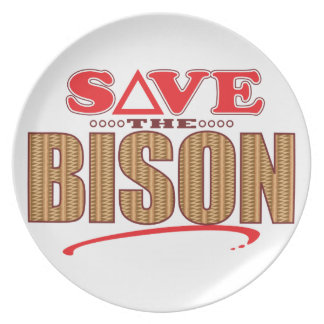 Bison Save Party Plates