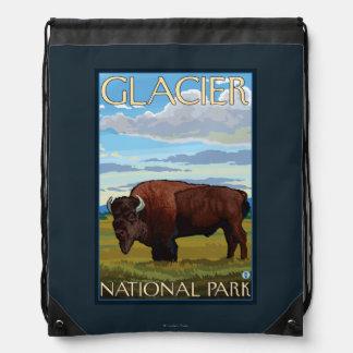 Bison Scene - Glacier National Park, MT Backpacks