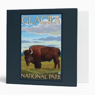 Bison Scene - Glacier National Park, MT Vinyl Binders