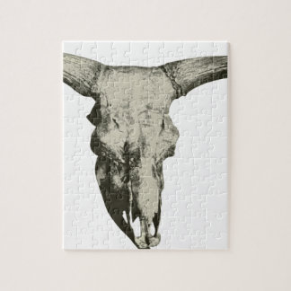 Bison Skull Jigsaw Puzzle