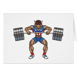 bison weight lifter card