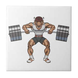 bison weight lifter ceramic tile