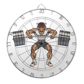 bison weight lifter dartboard