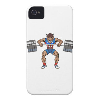 bison weight lifter iPhone 4 Case-Mate cases