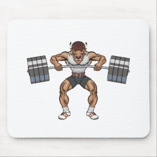bison weight lifter mouse pad