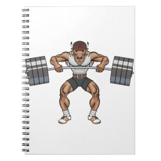 bison weight lifter notebook