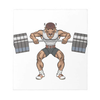 bison weight lifter notepad