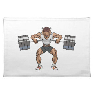 bison weight lifter placemat