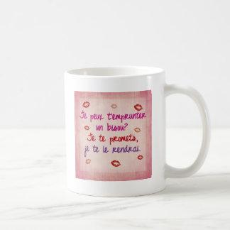bisou french phrase mug