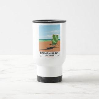 Bispham Beach Lancashire seaside poster Travel Mug