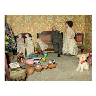 Bisque Dolls at Christmas Postcard - Customizable