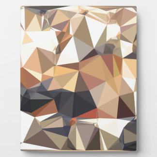 Bisque Gray Abstract Low Polygon Background Plaque
