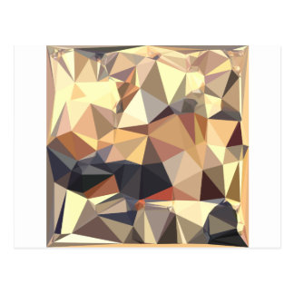 Bisque Gray Abstract Low Polygon Background Postcard