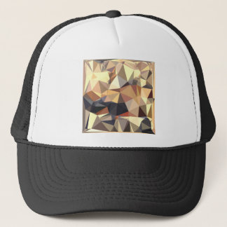 Bisque Gray Abstract Low Polygon Background Trucker Hat