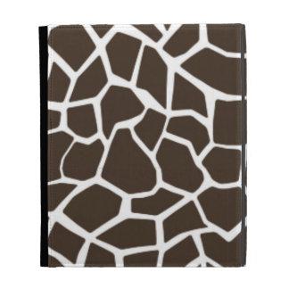 Bistre Brown Giraffe Animal Print iPad Cases