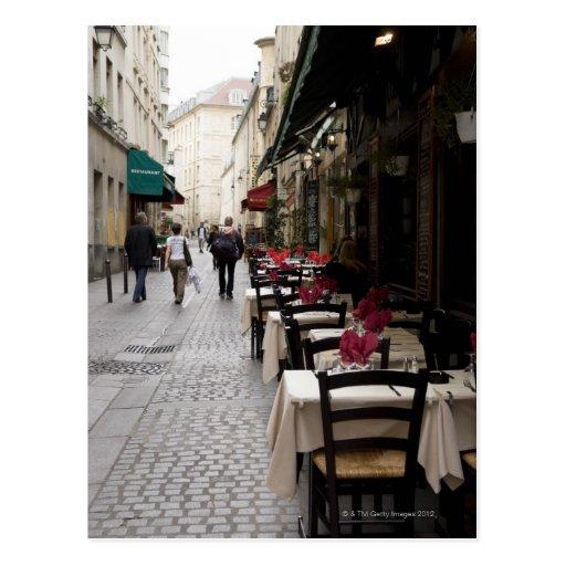 Bistro in Paris 2 Post Cards
