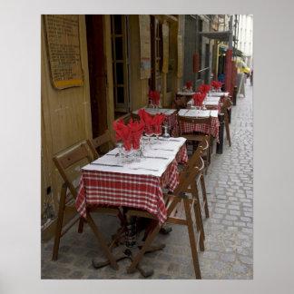 Bistro in Paris Poster