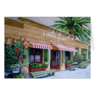 Bistro Jeanty Restaurant Napa Valley Card
