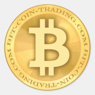 Bit-coin-trading.com Logo Classic Round Sticker