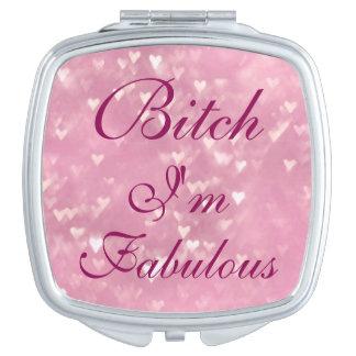 Bitch I'm Fabulous compact mirror