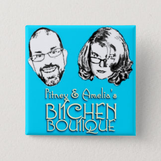 Bitchen Boutique Logo Square Button
