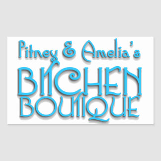 Bitchen Boutique Title Rectangle Stickers (4)