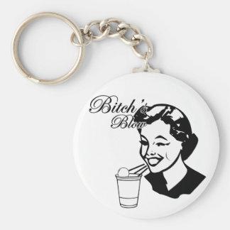 Bitchs Blow Basic Round Button Keychain