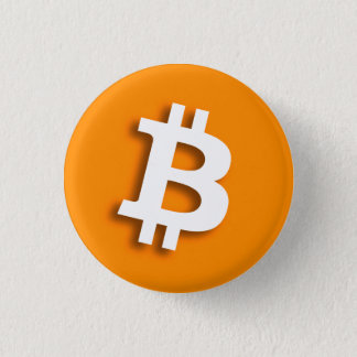 """BITCOIN"" 1.25-inch 1 Inch Round Button"