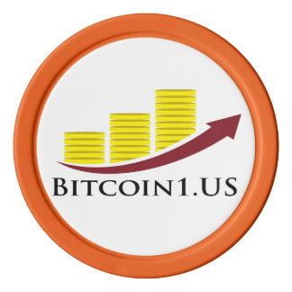 Bitcoin 1 Orange Poker Chip