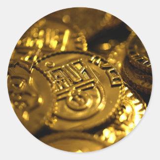 bitcoin-282 round sticker