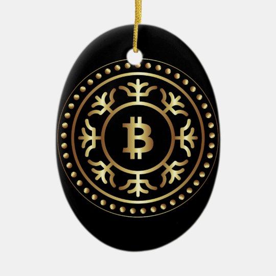 Bitcoin 2 ceramic ornament