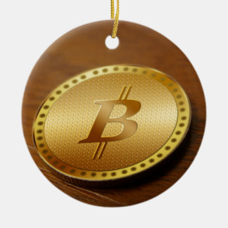 Bitcoin 2 ceramic ornament
