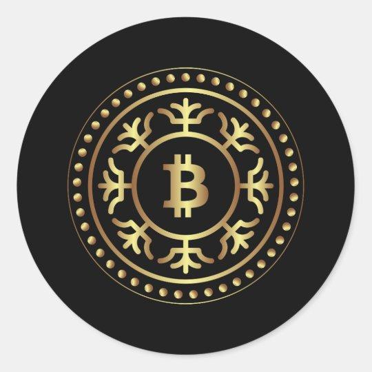 Bitcoin 2 classic round sticker