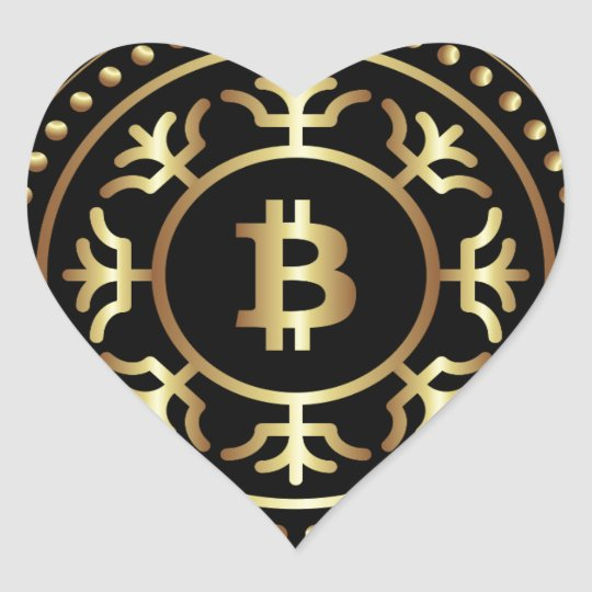 Bitcoin 2 heart sticker